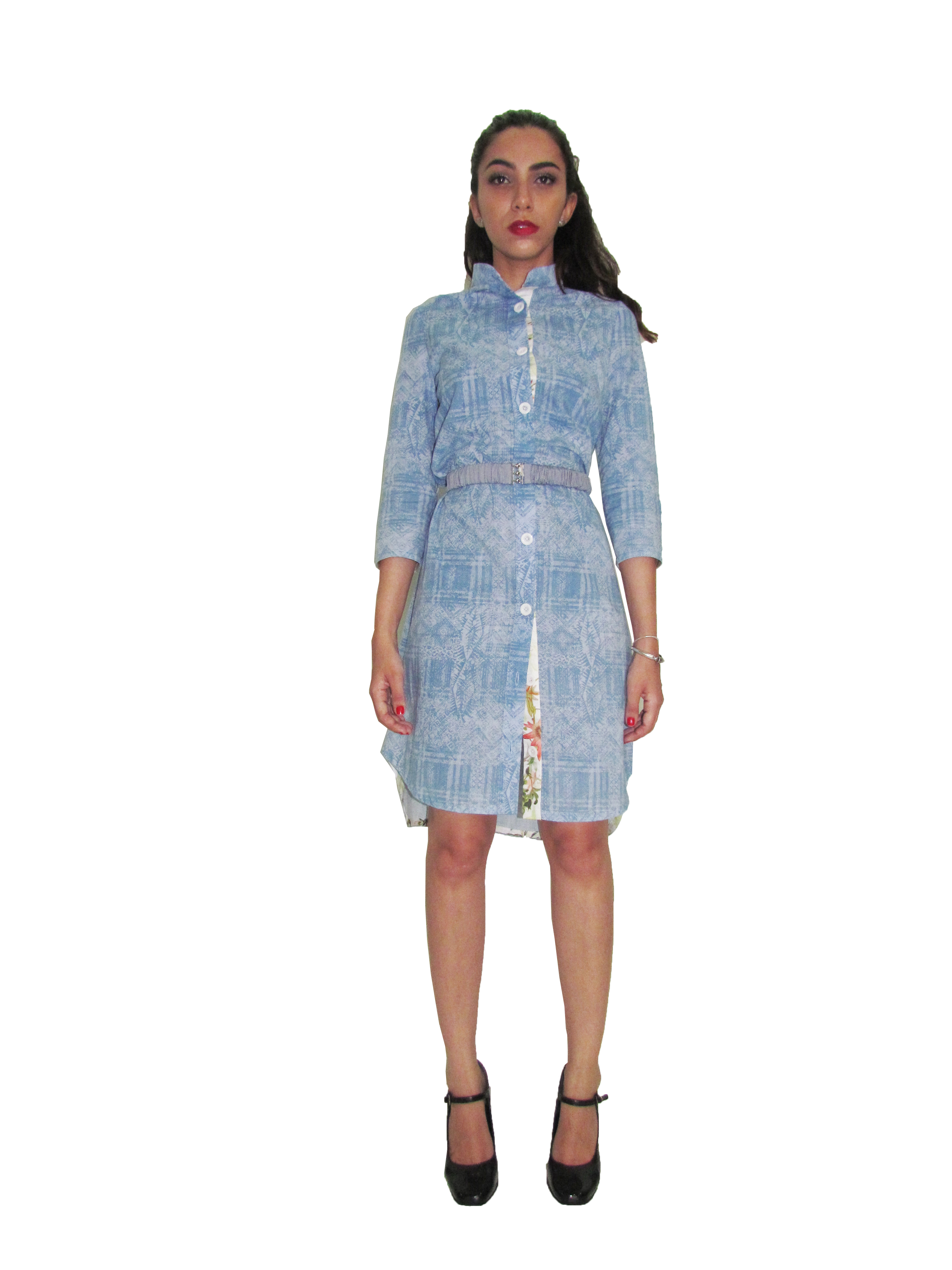 SP 1711 - Shirtdress With Collaged Back